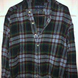 Flannel men's button down plaid. Size XXL